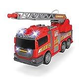DICKIE-Spielzeug 203308371 Feuerwehr 36cm Freilauf Licht + Ton Leiter Pumpe