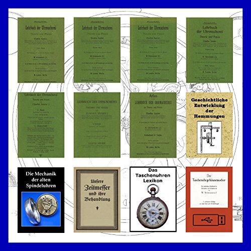 Lehrbuch der Uhrmacherei 7 Bände komplett inkl. Atlas als PDFs auf DVD - Uhren reparieren