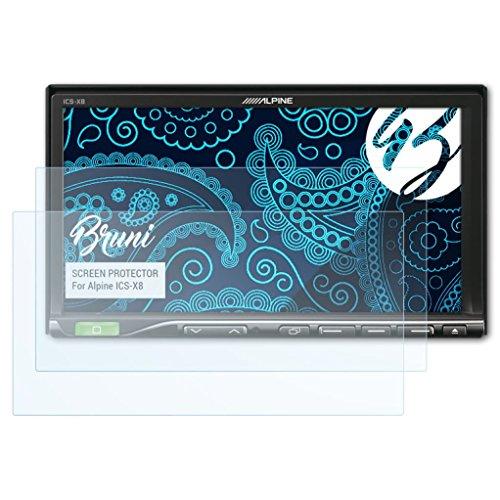 Bruni Schutzfolie kompatibel mit Alpine ICS-X8 Folie, glasklare Displayschutzfolie (2X)