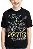 Camisetas de Manga Corta para niños Sonic The Hedgehog Kids Youth Unisex T Shirt Crew Neck Short Sleeve T-Shirts Tees for Little Boys Girls