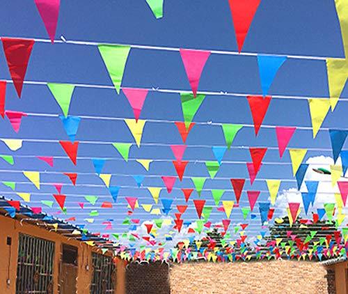 Gudotra 300pcs Banderín Banderas Triangulares de Nylon para Decoración de Fiesta Boda...