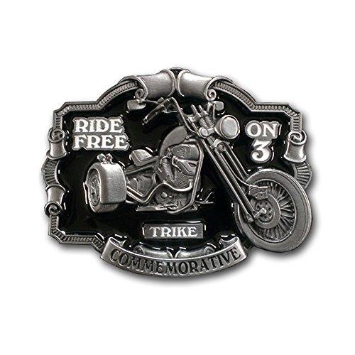 Buckle Gürtelschnalle Trike Ride Free on 3 Triker Biker + Geschenksäckchen