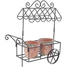 Carrello da mercato in bronzo antico, stile vintage, per decorare il giardino e riporvi vasi di fiori o erbe