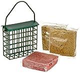 Dobar sei proteinreiche energetico Blocchi Grasso Blocchi con 2Gratis Mangiatoia da Appendere, ganzjaehriges Mangiatoia Grasso mangime per Uccelli Selvatici, 1er Pack (1X 1.8kg)