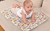 WonderKart Baby Waterproof Sheets Plastic & Cotton Foam Cushioned Sleeping & Changing Mat - Set of 3 (Print & Color May vary)