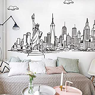 DIY Solid Color Modern Architectural Art Wall Stickers Home Decor Living Room Bedroom Kitchen Accessories Fashion Mural Decal
