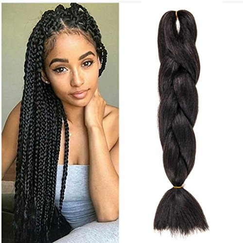 Wigenius 5 pezzi jumbo braid synthetic hair 61 cm 100 g capelli kanekalon braiding extension