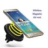 Chargeur magnétique Support voiture, Neotrix sans fil Qi standard Mobile Cell Phone Air Vent Mount Magnet Car Holder Cradle et chargeur pour appareils Qi Enabled