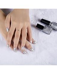 6ml Miroir Vernis a Ongles Poudres liquides Argent Chrome Decor pour Nail Art