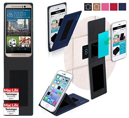 reboon Hülle für HTC One M9s Tasche Cover Case Bumper | Blau | Testsieger
