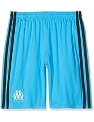 Adidas Olympique De Marseille Saison 2015/2016 3 Sho Y Pantalon court pour enfants Bleu/Noir