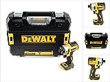 DeWalt Akku-Schlagschrauber (18 Volt, 205 Nm Drehmoment, 1/4 Zoll Innensechskant-Aufnahme, bürstenlos, LED-Diodenring, inkl. Zubeör und TSTAK-Box, Lieferung ohne Akku und Ladegerät) DCF887NT