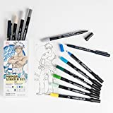 Japanisches Manga 12Stifte Geschenk-Set Boy