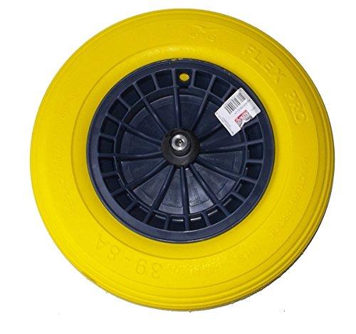 FORT FLEX PRO Blau PP PU Schubkarrenrad Ersatzrad Vollgummi Pannensicher Reifen *NEU*