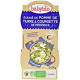 Babybio Bols Ecrasé de Pomme de Terre/Courgette de Provence 2x200 g -