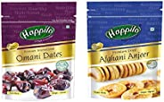 Happilo Premium International Omani Dates, 250g (Pack of 1) and Happilo Premium Afghani Anjeer, 200g