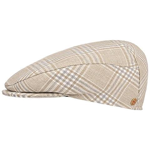 Mayser Vincent Softvisor Flatcap Schirmmütze Baumwollmütze Sommercap Schiebermütze Mütze Cap Kappe Baumwollcap Schiebermütze (57 cm - beige)
