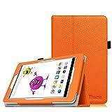 Fintie Odys Junior Tab 8 Pro Hülle Case - Slim Fit Folio Kunstleder Schutzhülle Cover Tasche mit Ständerfunktion und Stylus-Halterung für Odys Junior Tab 8 Pro 20,3cm (8 Zoll) Tablet-PC, Orange
