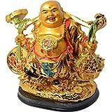 Buycrafty Vastu Feng Shui Standing Shravan يضحك بوذا سعيد الحظ السعيد والثروة والازدهار في المنزل والمكتب