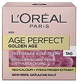 L'Oreal Paris Age Perfect Golden Age Tagespflege, mit Neo-Calcium und Pfingstrosen-Extrakt, sorgt für einen rosig-frischen Teint, 2er Pack (2 x 50 ml)