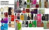 Set de 3 (tres) Perfumes Franceses de alta Calidad Para Mujer 80 a 100ml cada uno Selección Noche y Día. 3 regalos de Primera Calidad de lujo al mejor precio.