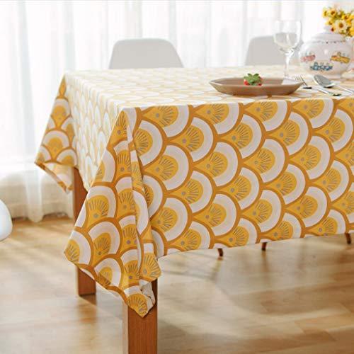 DUOMING Tischdecke-Garten-Baumwoll- und Leinen-europäischer moderner minimalistischer Restaurant-Couchtisch-Wohnzimmer-Tischdecke Tischdecken (größe : 140cm*220cm)