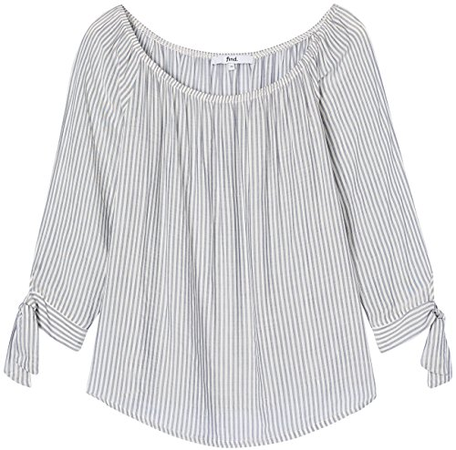 FIND Damen Schulterfreie Bluse Grau (Grey)