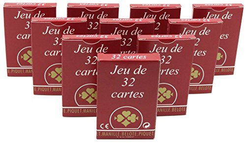 Ducale - Jeu de cartes - Jeu de 32 cartes gauloise - Lot de 10