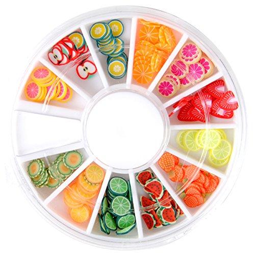 Mode Galerie 3D Onlges Autocollant Canes Fimo Manucure Decoration Fruit