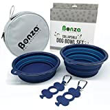 Bonza Large Collapsible Dog Bowls, Twin Pak, 42oz 7