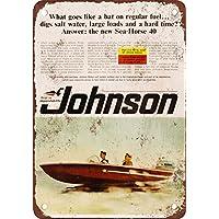1966Johnson Sea-Horse 40motori fuoribordo Look Vintage Riproduzione
