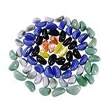 POPETPOP Bottiglia di pesce Bottiglia di pietra decorativa Borse Pietra di cristallo di ghiaia Pietra di sabbia lucidata artificiale Microlandscape (colore misto)