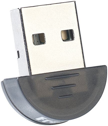 FreeTec Ultra-kompakter USB-Dongle mit Bluetooth-2.0, Klasse II, EDR+CSR, 10 m