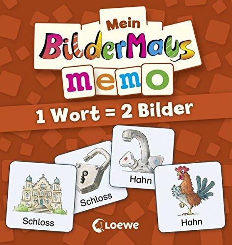 Preisvergleich Produktbild Mein Bildermaus-Memo - 1 Wort = 2 Bilder (Kinderspiel)
