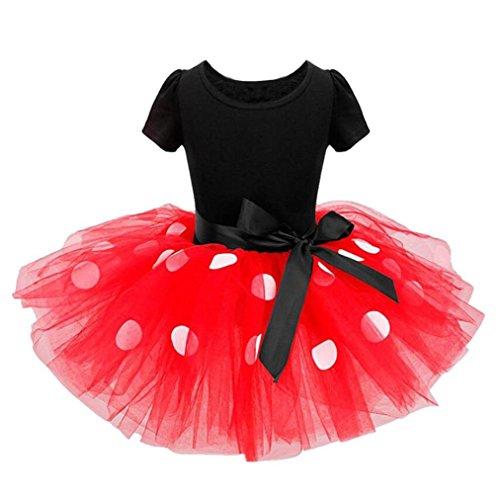 AMUSTER Mädchen Kostüm Kleinkind Kinder Baby Mädchen Kleidung Party Bowknot Ballkleid Prinzessin Kleid Karneval Fasching Cosplay Kostüm Kleid Sommer Kurzarm Kleid (130, - Kostüme Karneval Kleinkind