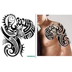 ARM SCHULTER TRIBAL TATTOO Temporär Oberarm Tattoo Aufkleber PC017