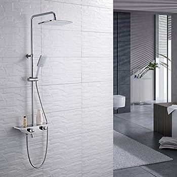 Thermostat Duschsystem Regendusche Duschset Handbrause Duschkopf Duscharmatur