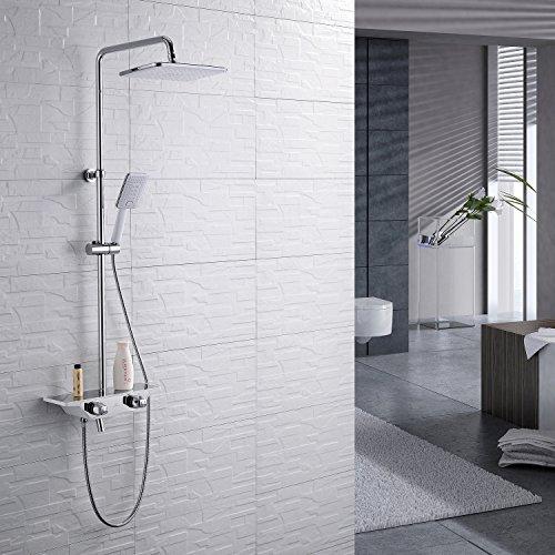 Homelody 38ºC Termostático Columna de ducha Conjunto de Ducha con Barra...