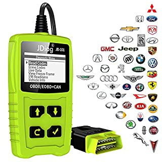 obd2 scanner JDiag JD101 OBD Codeleser Kfz Diagnose Tool prüfen Motor Fehlercodes CAN EOBD EOBD für alle Fahrzeuge ab 2000 mit OBD II Protokolle