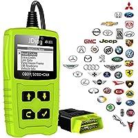 JDiag OBD2 Auto-Diagnosegerät OBD II Auto-Code-Scanner-Fahrzeug-Fehlercodeleser arbeitet an allen Autos mit OBD2 / EOBD / CAN-Modi und Standard-16-Pin-OBDII-Schnittstelle für Lesen und Löschen Fehlercode und Batterie Test