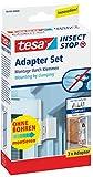 tesa® Insect Stop Fliegengitter ALU Comfort Adapter-Set für Insektenschutztüren aus Aluminium (Weiß / 2er Pack)