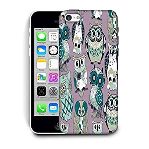 Snoogg Dull Owl Printed Protective Phone Back Case Cover For Apple Iphone 5C