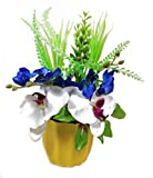 Parishi & W Artificial Assorted plant glowing arrangement in Plastic Pot