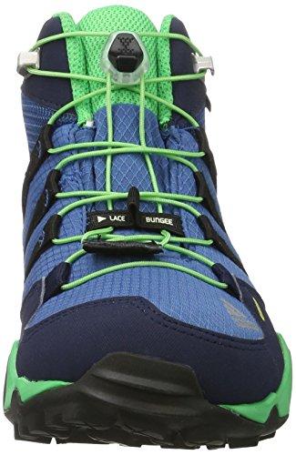 adidas Terrex Mid Gtx K, Scarpe da Arrampicata Basse Unisex-Bambini Blu (Core Blue/core Black/energy Green)