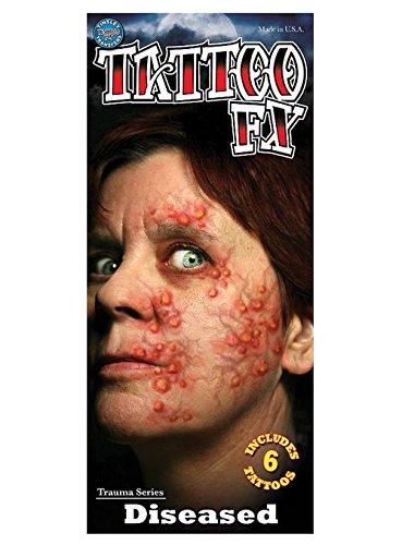 Preisvergleich Produktbild Tinsley´s Pestbeulen Effekt-Tattoo für Halloween,  Theater,  Horror und mehr ...