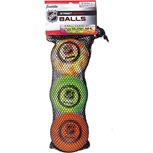 Franklin Sports NHL Street Hockey 3-Ball Combo Set For Superior Visibility New (Franklin Street)