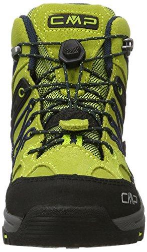 CMP Rigel Mid WP, Chaussures de Randonnée Hautes Mixte Adulte Vert (Lime Green-graffite)