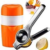 BESYZY Zitronenpresse Küche Manuelle Saftpresse Squeezer Obstpresse Limettenpresse Zitruspresse für Zitronen Orangen und Limetten Spülmaschinenfest mit Korrosionsschutz 2 PCS