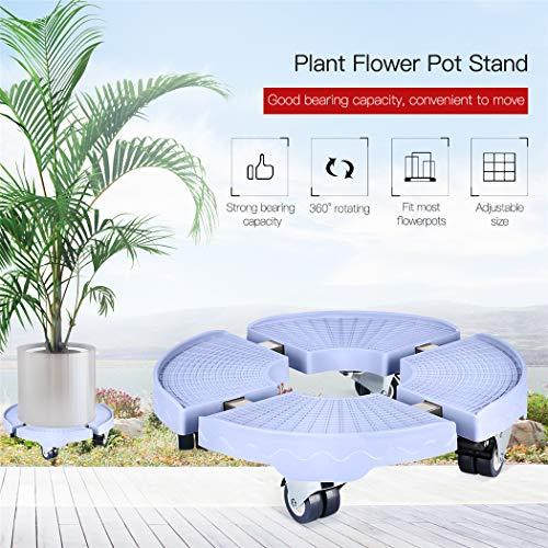 inkint Pflanze Blumentopf Ständer mit Rädern Heavy Duty Pflanze Caddy Pflanze Stehen für Indoor Outdoor Home Garten -