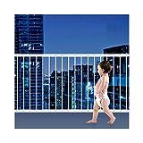 Fairy Baby interne Fenster Sicherheit gittereinsätze Kind Sicherheit Fenster Wachen Stahl Baluster Grid Bars, weiß, 80–92cm, 50cm Höhe